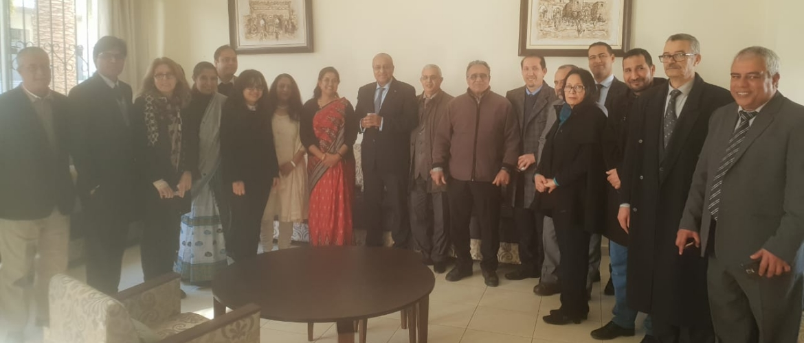 On 25th February 2019 the ICCR (Indian Council for Cultural Relations) Chair on Indian Studies was inaugurated at the prestigious University Mohammed V, Rabat, Morocco